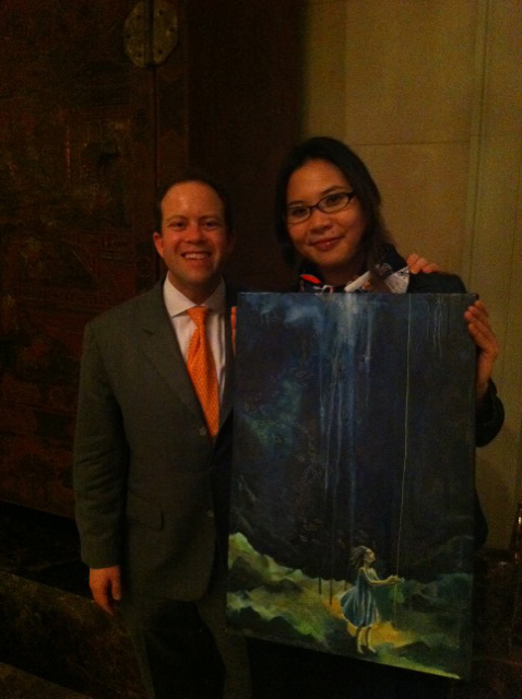 Russ with Artist, Jessamyn Hoshikawa from Dallas